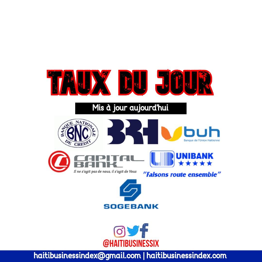 Les Taux du jour BUH - BNC - Capital Bank - BUH - SOGEBANK
