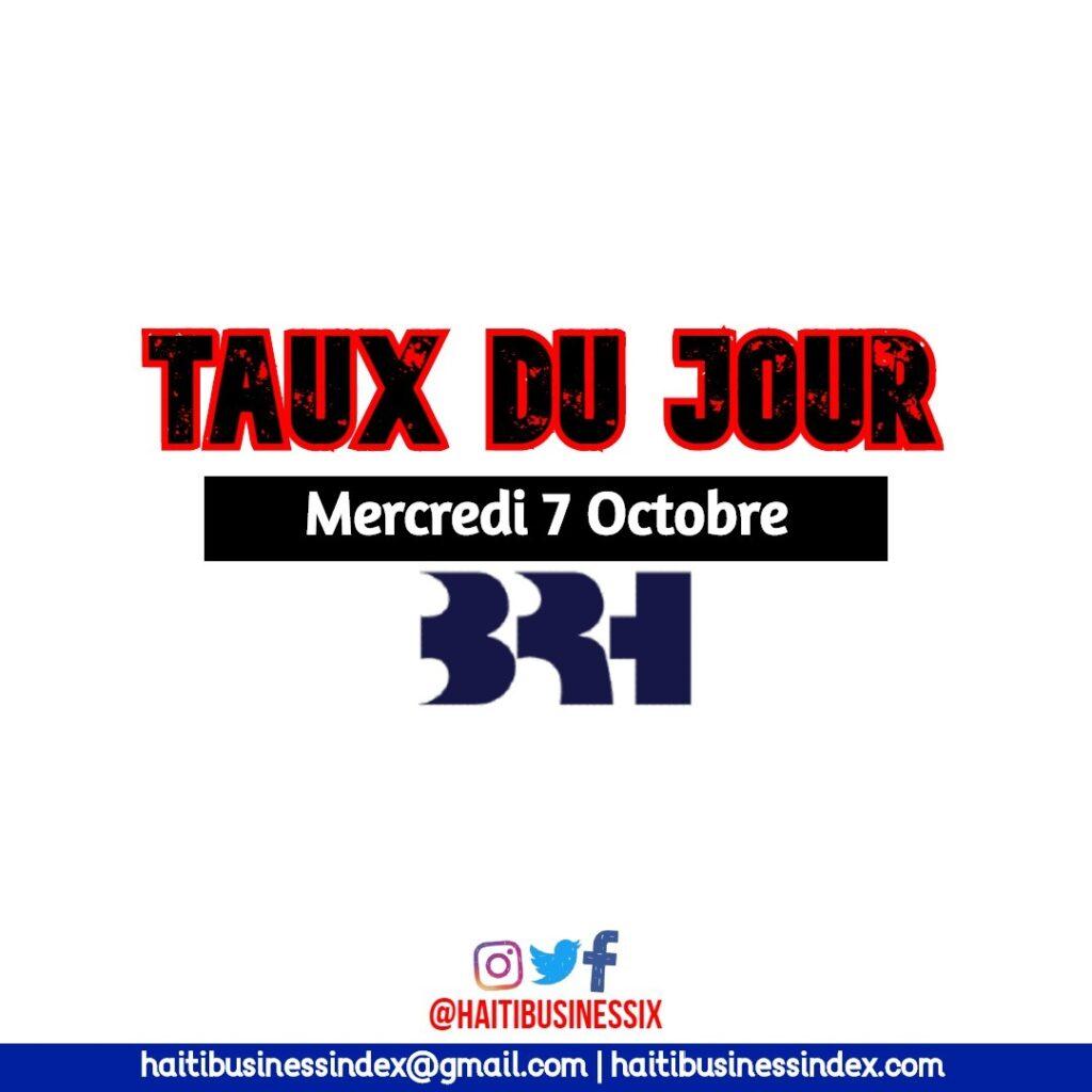 Taux de Reference BRH au Mercredi 7 Octobre 2020
